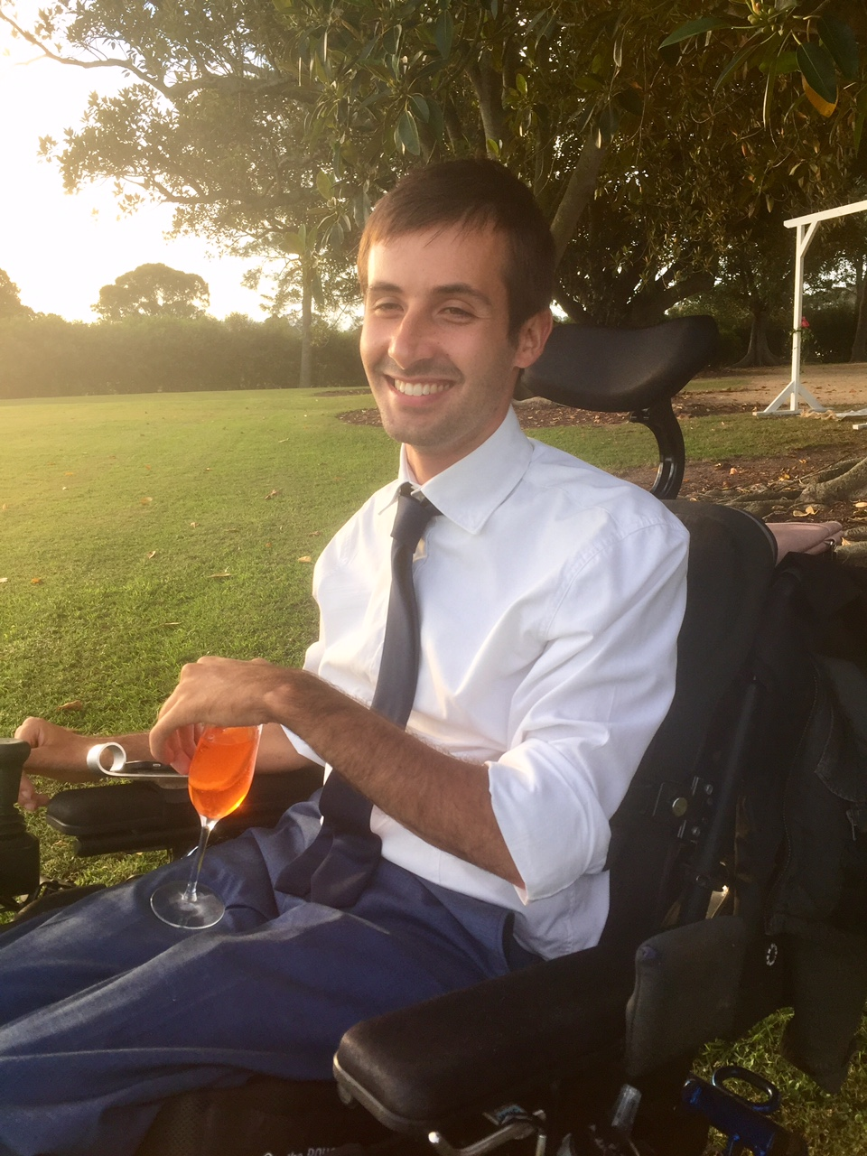 Ben at friends wedding, 2017