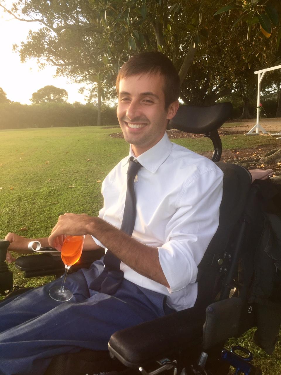 Ben at friends wedding, 2017